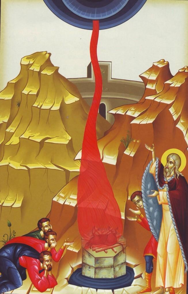 Sf.-Ilie-si-slujitorii-lui-Baal-foc-din-cer-peste-jertfele-idolesi